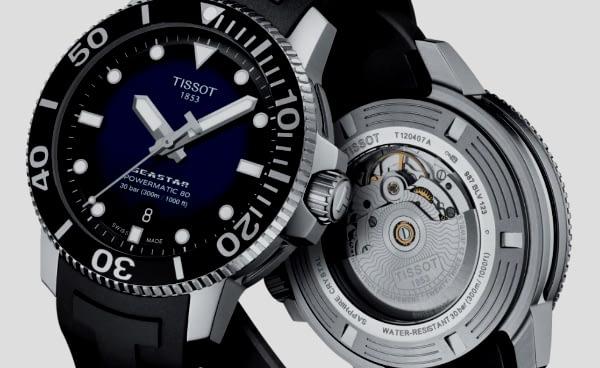 best dive watches under 1000: Tissot Seastar 1000 Powermatic 80